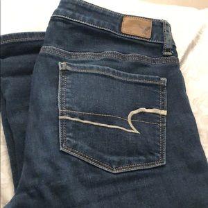 American Eagle dark wash jeans, size 6